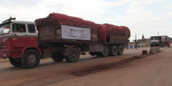 Convoy of humanitarian aid enters Afrin area