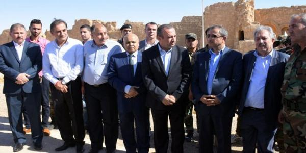 Ministerial delegation visits liberated areas in southern countryside of Raqqa