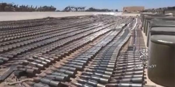 Army discovers US-made weapons left behind by terrorists in Daraa eastern countryside