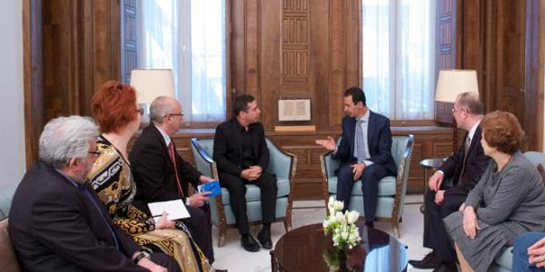 President al-Assad to European delegation: Wrong policies of European countries towards Syria led to the spread of terrorism