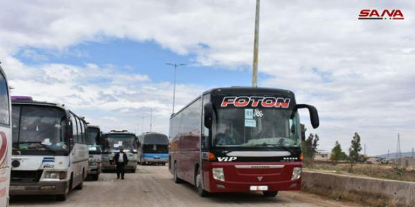 6th batch of terrorists to be evacuated from countryside of Homs, Hama