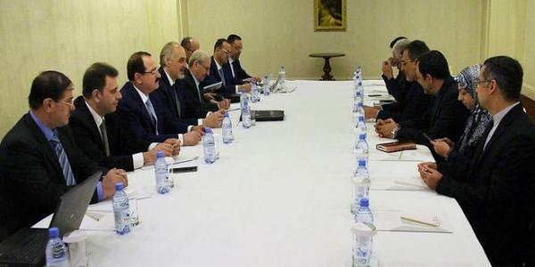 Syrian Arab Republic delegation meets Iranian and Russian delegations in framework of Astana 9 on Syria