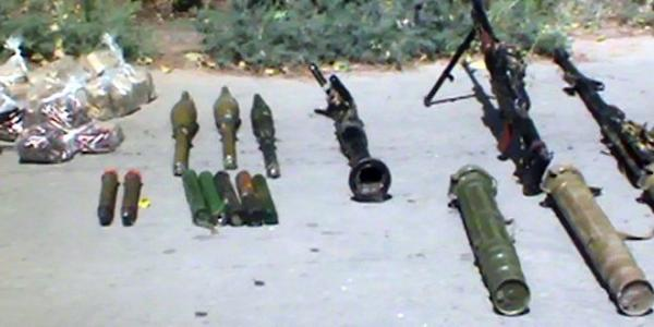 Weapons and munitions left behind by terrorists found in Hama countryside