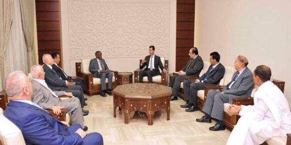 President al-Assad receives participants in 14th National Conference of Al-Baath Arab Socialist Party