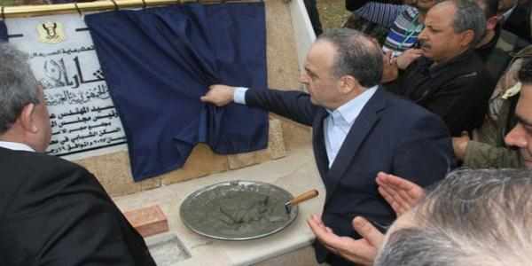 Premier Khamis lays down foundation stone for housing project, inspects other services projects in Tartous