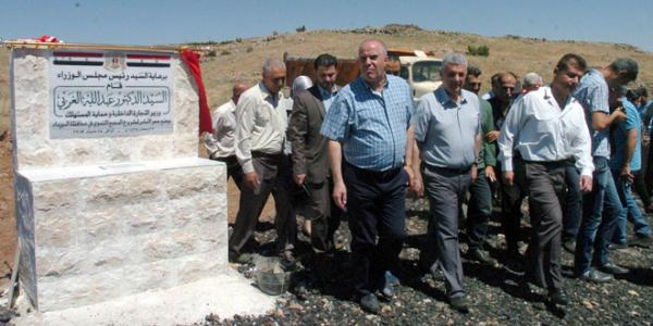 Internal Trade Minister inaugurates project, conducts tour in Sweida province