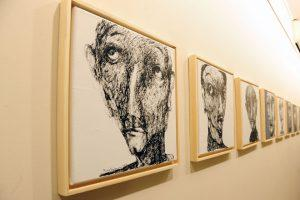 "Faces from life in ""Fading Away"" art exhibition by Rima Salamoun"