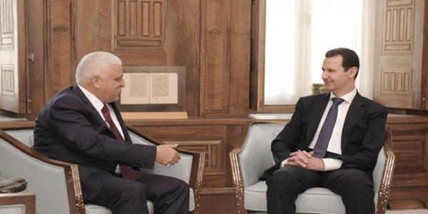 President al-Assad receives message from Iraqi PM on cooperation in combating terrorism