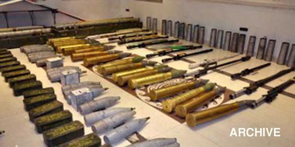 Authorities seize munitions left behind Daesh in Palmyra surroundings