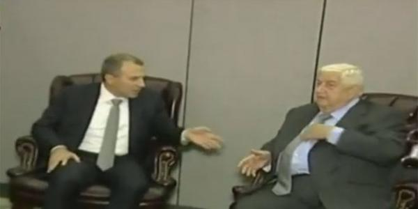 Al-Moallem meets Lebanese counterpart on sidelines of UN General Assembly
