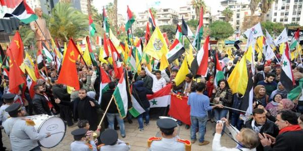 Solidarity stand, mass rally in protest against Trump�s decision on al-Quds