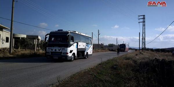 46 buses carrying hundreds of terrorists on board exit from Quneitra countryside