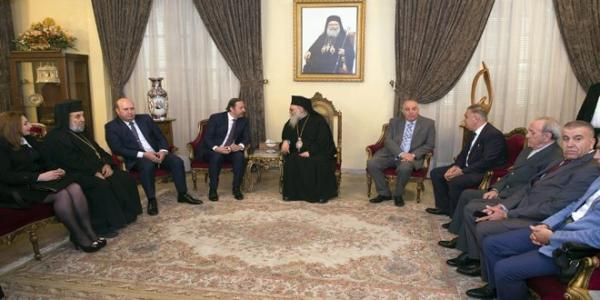 Delegated by President al-Assad, Azzam visits heads of Christian denominations on Christmas occasion
