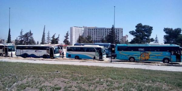 Preparations underway for exit of third batch of militants and their families from Ghouta, militants in Douma prepared to leave