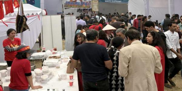Syrian pavilion at International Charity Bazaar in New Delhi witnesses remarkable turnout
