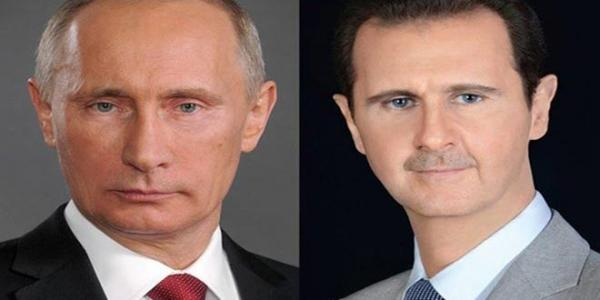 President al-Assad receives congratulatory cable from President Putin on occasion of lifting siege on Deir Ezzor