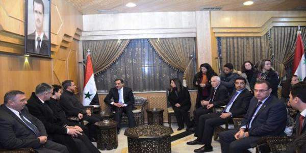 Aleppo Governor meets French delegation