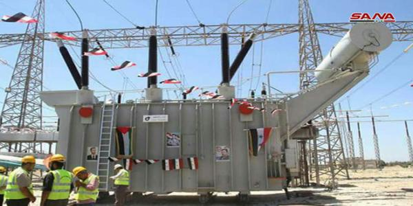 Tal Qartal power substation and Jandar line put into service in Hama