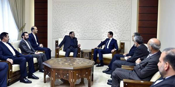 President al-Assad to Shamkhani: We will continue work, with our friends, to create conditions for a solution