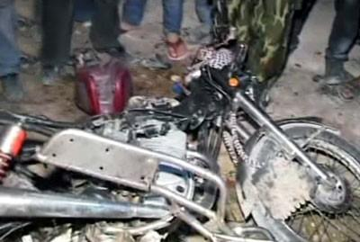 Aleppo: Two terrorists killed & 4 citizens injured in booby-trapped motorcycle explosion