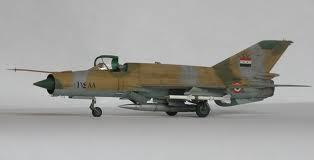 Contact lost with MiG 21 Aircraft that was on a training sortie.