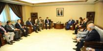 Russian delegation meets ministers on reconstruction