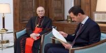President al-Assad receives letter from Pope Francis expressing heartfelt sympathy with Syria