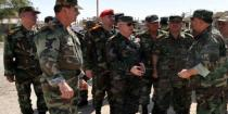 Army Chief of Staff visits units operating in al-Sukhna city in Homs countryside