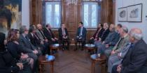 President al-Assad receives participants in Arab Writers Union General Secretariat meeting