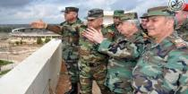 Army's Chief of Staff visits military positions in Daraa