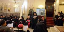 A prayer for peace and security in Syria held at St. George Cathedral in Damascus