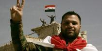 Syrian flag raised over Ain Tarma and Joubar after cleansing them of terrorism