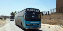 12 buses carrying 629 terrorists and their family members exit Douma to be transported later to Jarablos