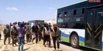 Terrorists who refused to join reconciliation in Mahajjeh town in Daraa northern countryside evacuated to northern Syria