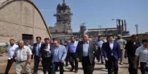 Governmental delegation continues its visit to Homs, inspecting General Fertilizer Company