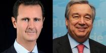 President al-Assad receives congratulation cable from Guterres on occasion of Independence Day
