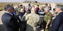 Premier Khamis visits al-Sha'irat Airbase in Homs Countryside