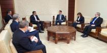 President al-Assad says Syria set on combating terrorism, aided by friends