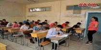 224,105 students start high school final exams in Syrian provinces