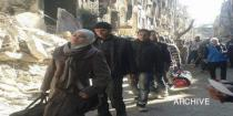 Secondary school students evacuated from Yarmouk Camp to take their final exams