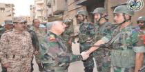 Lt. Gen. Ayyoub inspects army units operating in Deir Ezzor and its countryside