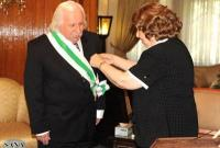 Vice President al-Attar awards historian Mohammad Mihfil Syrian Order of Merit of Excellent degree