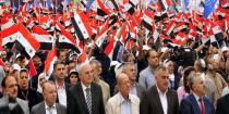 Celebration on occasion of Workers' Day in Damascus