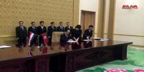 Syria and DPRK sign MoUs and executive programs in education, industry, housing, and investment